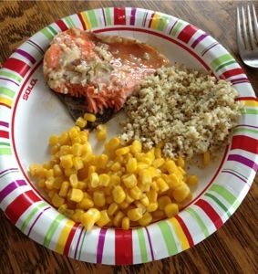 Honey Salmon in Foil with Oven-Roasted Cauliflower